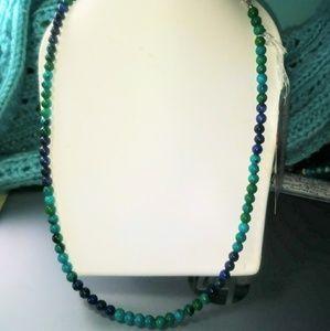 Jewelry - Snow Jade and Lapis Lazuli necklace or bracelet